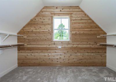 Cedar wall in storage closet