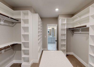 Infinite Shelving and Hanging in this Custom Closet