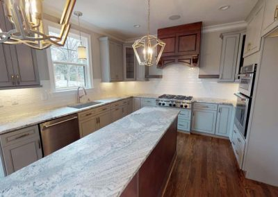 Custom Cabinets with Leathered Granite