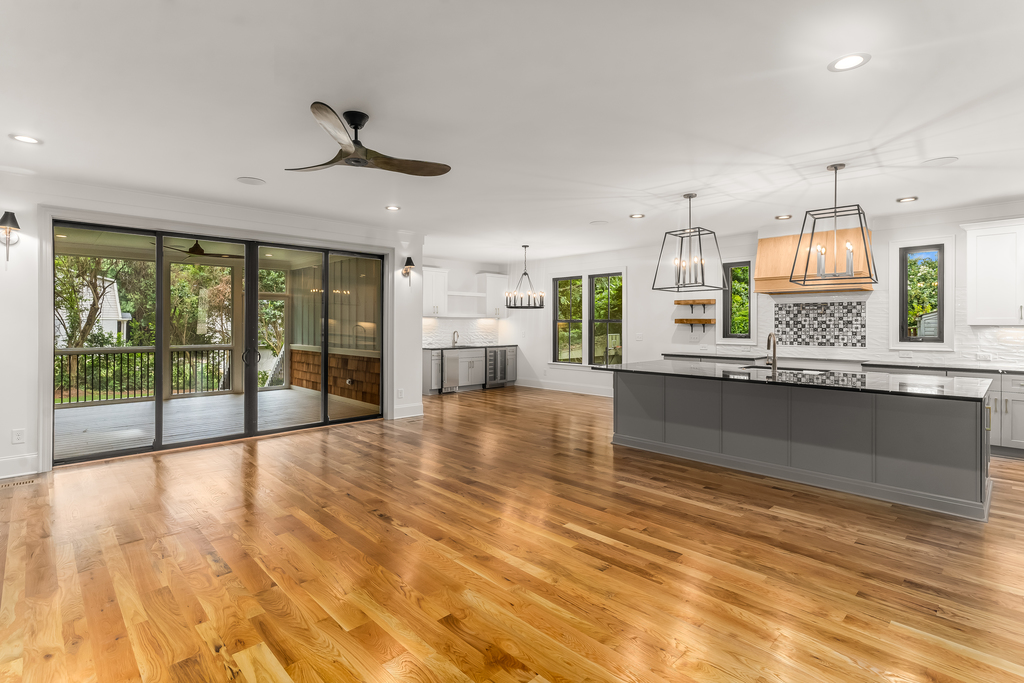 713 Mial Street Raleigh Custom Design by Urban Building Solutions Kitchen + Living