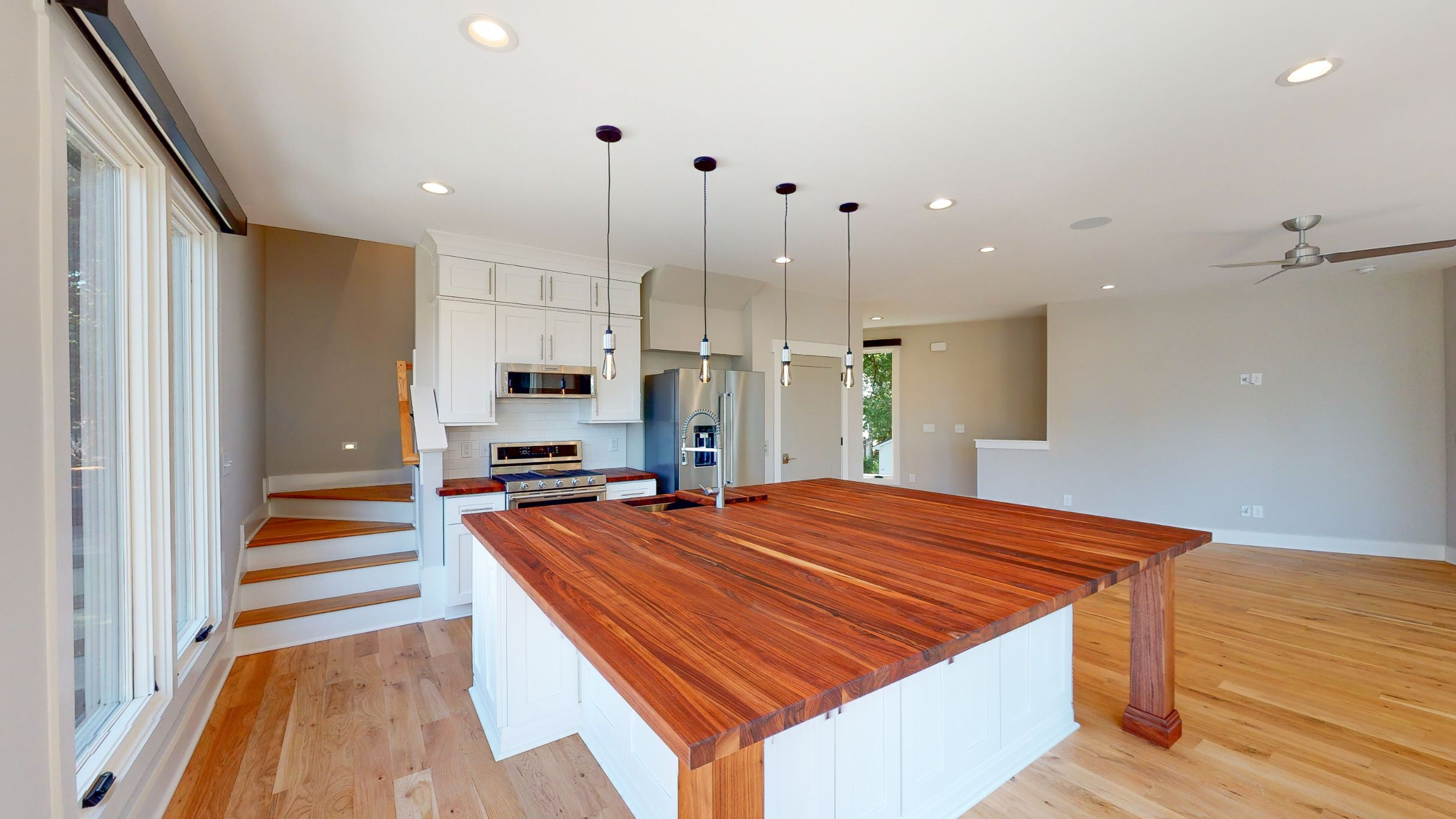 227 Georgetown Road Raleigh NC 27608 Built by Urban Building Solutions Open Concept Kitchen
